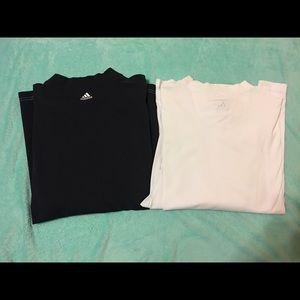 2 Men's Adidas ClimaLite Stretch Shirts Size XL